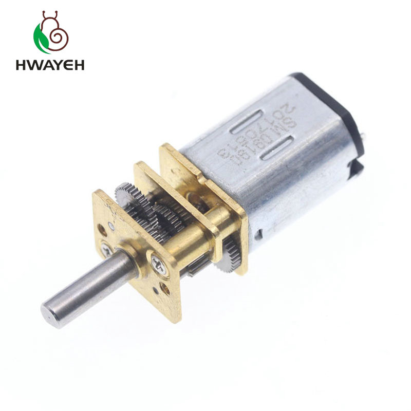 1pcs <font><b>N20</b></font> Micro Metal <font><b>Gear</b></font> <font><b>motor</b></font> Electric <font><b>gear</b></font> box 6V 60RPM/100RPM/200RPM DC 6V 200rpm 3MM Shaft Diameter image