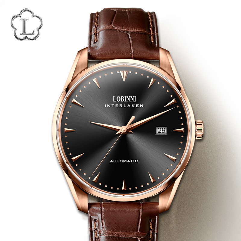 Luxury Brand Switzerland Men Watches LOBINNI Watch Men Sapphire relogio Japan Import NH37A Automatic Mechanical Movement L5019 3 in Mechanical Watches from Watches