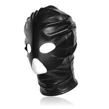 Adult Products Bdsm Fetish Mask Hood Sexy Toys Open Mouth Eye Bondage Slave Cosplay Punish Head Game