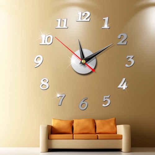 Большие настенные часы большие часы Наклейка 3D наклейки римские цифры DIY настенные современные комнаты