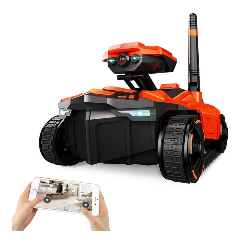 RCtown YD-211 Wifi FPV 0.3MP caméra RC voiture App télécommande réservoir RC Robot RC réservoir jouet téléphone contrôlé Robot
