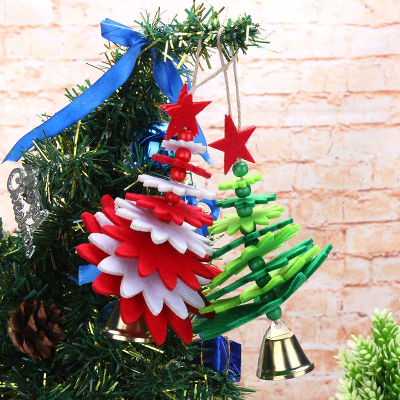 15 Non Traditional Christmas Tree Ideas: 2pcs Non Woven Christmas Bell Pendants Xmas Hang Ornament