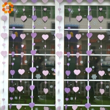 10PCS Lovely Heart Hanging Paper Garland Wedding Floral String Banner For Home Decoration DIY Party Supplies