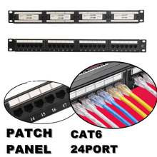 RJ45 CAT 6 Ethernet Jaringan LAN Adaptor Konektor Kabel Mount Braket 24 Port/WST CAT5E Patch Panel 1U untuk 19 Inch Rack Mount(China)