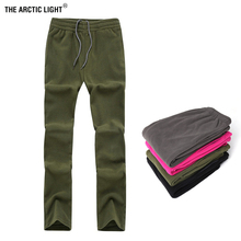 THE ARCTIC LIGHT Mens Women Hiking Pants Spring Autumn Fleece Sports Outdoor Camping Climbing Fishing Female Male Warm Trousers