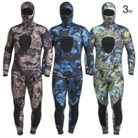 Mens 3MM Camouflage Two piece Surf Diving Suits Male Outdoor Swim Surfing Wading Sports Split Warm Breathable Waterproof Wetsuit