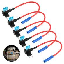 5 Pcs Car Auto Add A Circuit Fuse Kit Holder ATM Adapter APM Tap Mini Blade Micro Add-a-Circuit  #0102