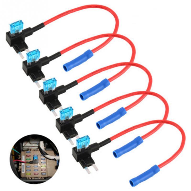 5 pièces voiture Auto ajouter un Circuit fusible Kit porte-fusible ATM adaptateur automatique APM robinet Mini voiture lame Micro add-a-circuit adaptateur #0102