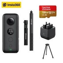 Insta360 ONE X Macchina Fotografica di Azione di VR 360 Macchina Fotografica Panoramica Per IPhone E Android 5.7 K Video Con 128G Batteria invisibile Selfie Bastone