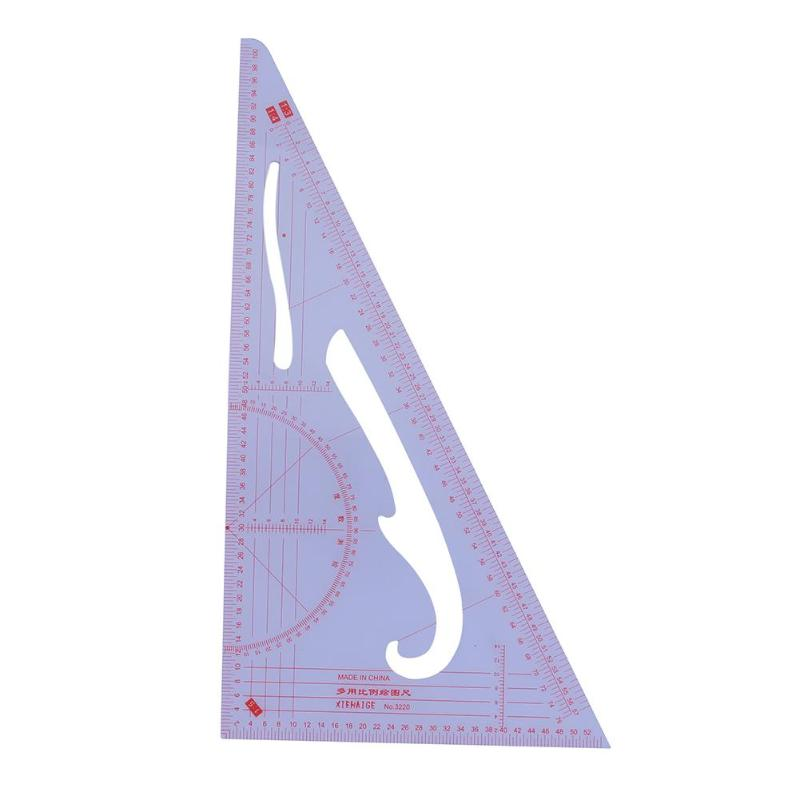1:3/1:4/1:5 Wear-Resistant Patchwork Ruler Clothing Drawing Plate Making Ruler Tailor Sewing Rule Tool Triangle Sewing Ruler