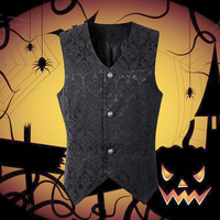 men's vest sleeveless jacket Medieval Renaissance Vest Vintage Party Cosplay Costume Halloween Gothic Jacket