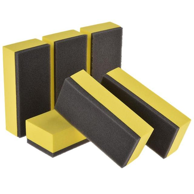 6Pcs Car Wash Foam Lacquer Coating Sponges Car Maintenance Waxing Sponge For Glass Ceramic Coating Applicator Car Cleaning