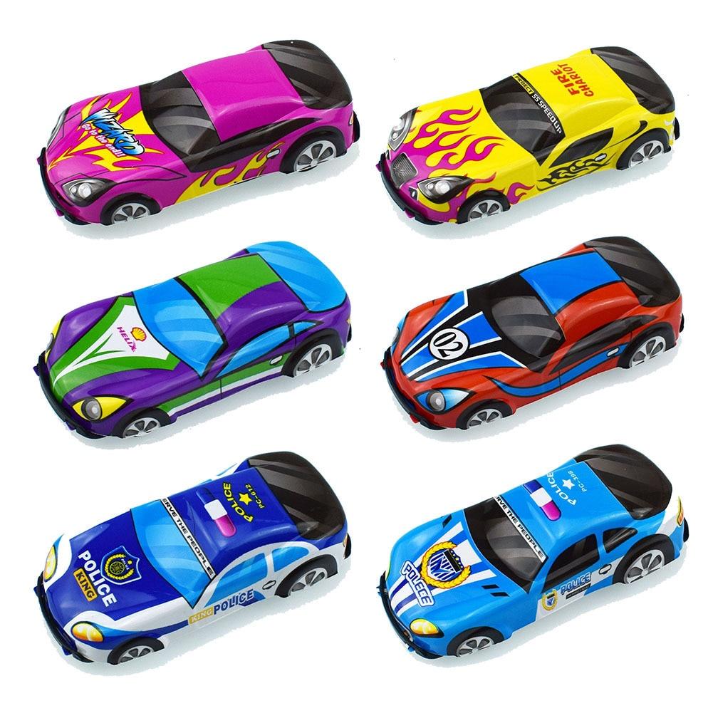 Children Cartoon Modeling Tuba Pvc Adhesive Force Automobile Sedan Model Toys