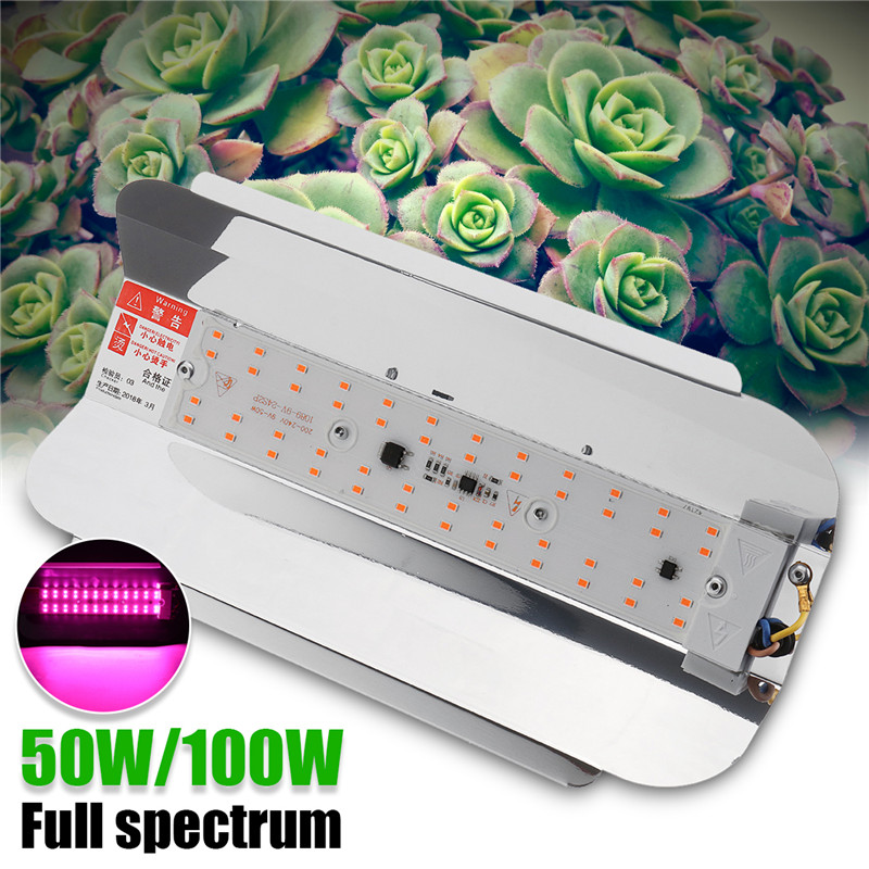 f1bd906dbc6 Smuxi 50 W Waterproof LED Grow Light AC 220 V LED Grow Lamp 100 W 60lm W