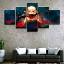 Canvas Painting Abstract Wall Art Pictures Home Decorative 5 Pieces Anime Unknown Girls Modular HD Printed Poster Framework high quality canvas print poster framework painting wall art home decorative 5 pieces anime unknown landscape modular pictures
