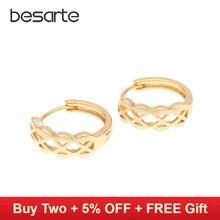 Купить с кэшбэком 18k Gold Hoop Earrings for Women Brincos de Ouro Crystal Pendientes Cc Earring Gold Orecchini Earings Fashion Jewellery EH1821