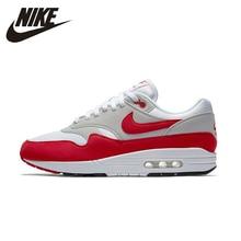 new style 4ce99 bdf40 Nike Air Max 1 OG anniversaire hommes respirant chaussures de course maille  Super léger soutien sport