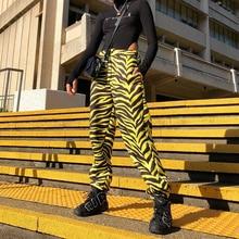 A Vita alta Jogger Pantaloni di Stampa Dei Pantaloni Della Banda Femminile  Streetwear Harajuku Pantaloni Blocchi f83149fae1e