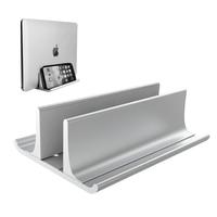 Suporte vertical do suporte do portátil ajustável desktop notebook doca espaço-economia de três-em-um