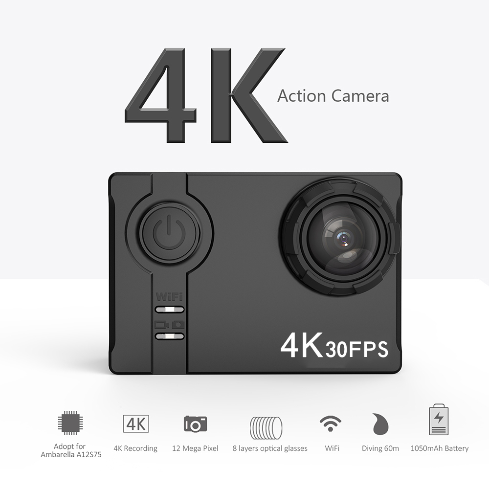Andoer 4K Ultra HD WiFi 16MP 2 0 LCD Screen Sports Action Camera 60 Meters Waterproof