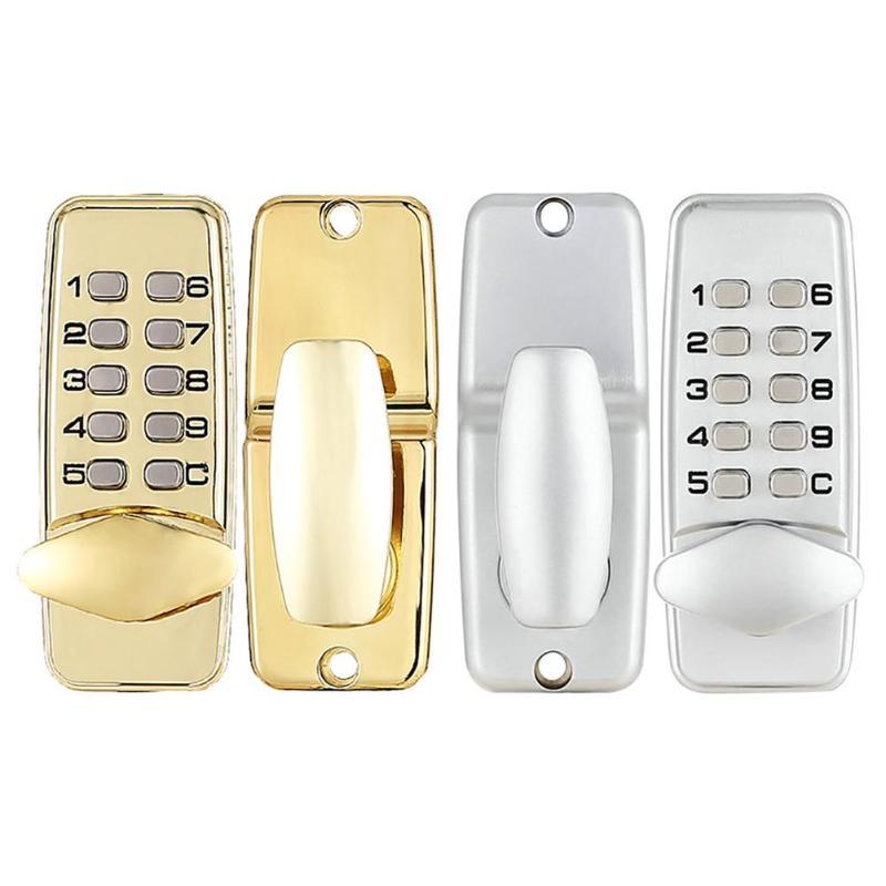 Serrure de porte numérique mécanique en alliage de Zinc bouton poussoir Code sans clé serrure à combinaison porte d'entrée sécurité de la maison matériel de meubles