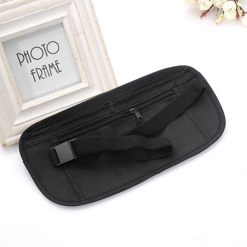 Hot インビジブル旅行ウエストポーチパスポートマネーベルトバッグ隠しセキュリティ財布のプレゼント