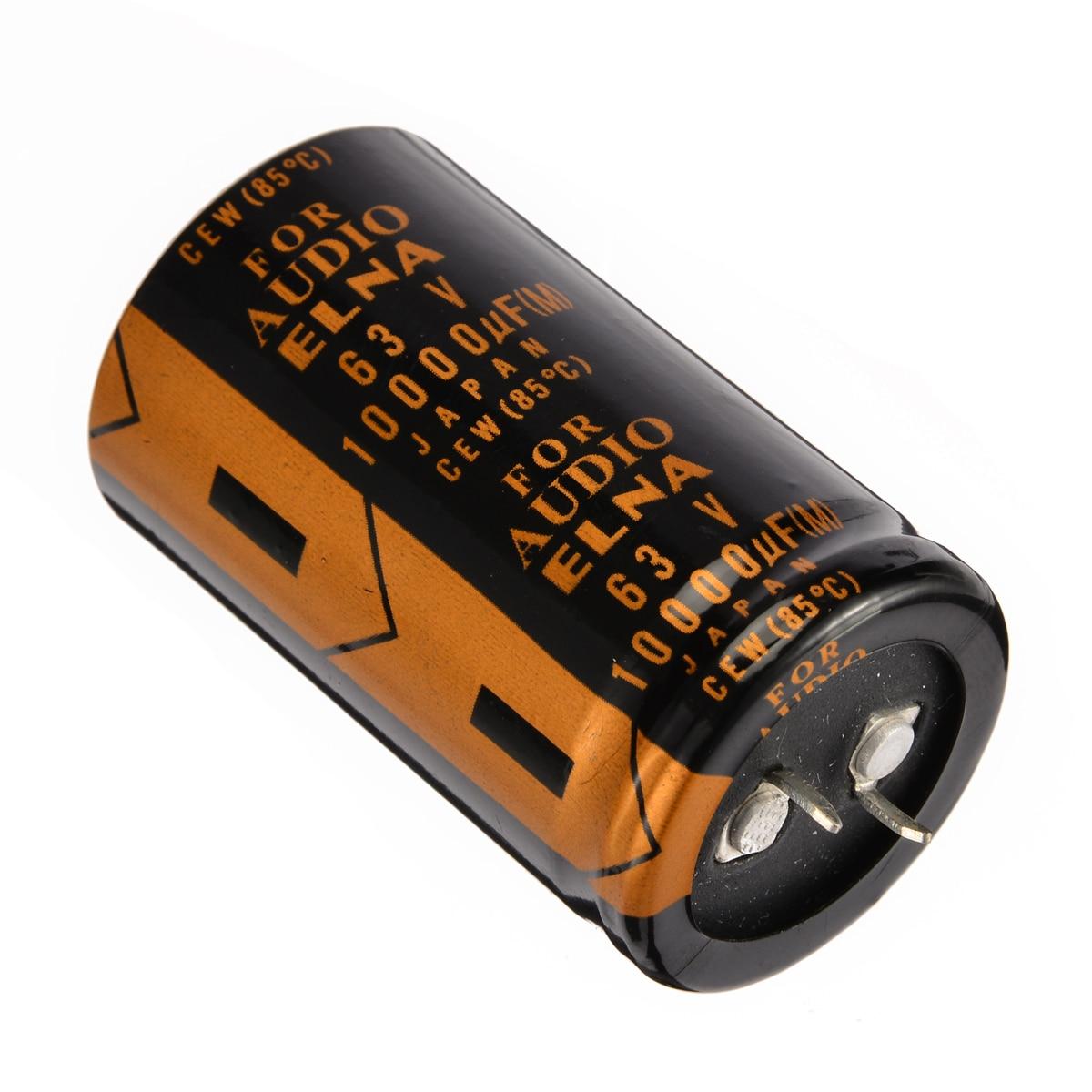 electrolytic capacitor Mayitr 4pcs 30*50mm Replacement Electrolytic Capacitor For ELNA AUDIO 63V 10000UF (2)