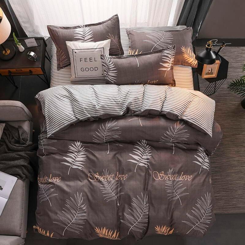Gele eend Zachte comfortabele 4 stuks Beddengoed Set Beddengoed Bed Set Laken Dekbedovertrek Kussensloop koning koningin volledige twin size