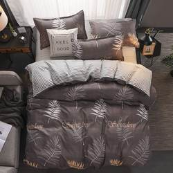 Yellow duck Soft comfortable 4pcs Bedding Set Bed Linen Bed Set Sheet Duvet Cover Pillowcase king queen full twin size