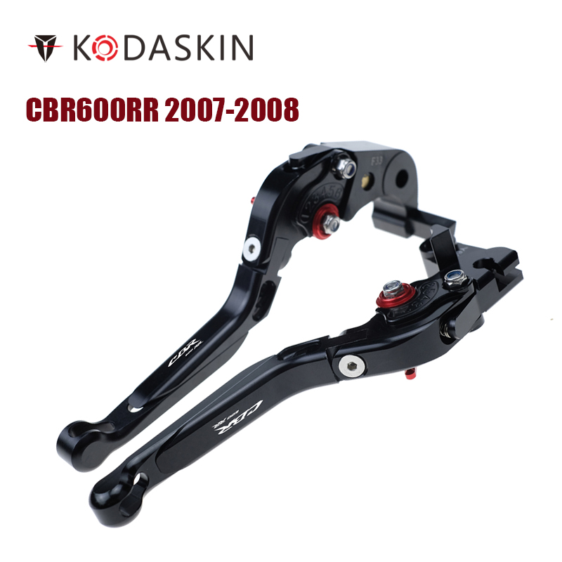 KODASKIN Left and Right Folding Extendable Brake Clutch Levers for Honda CBR600RR 2007-2008