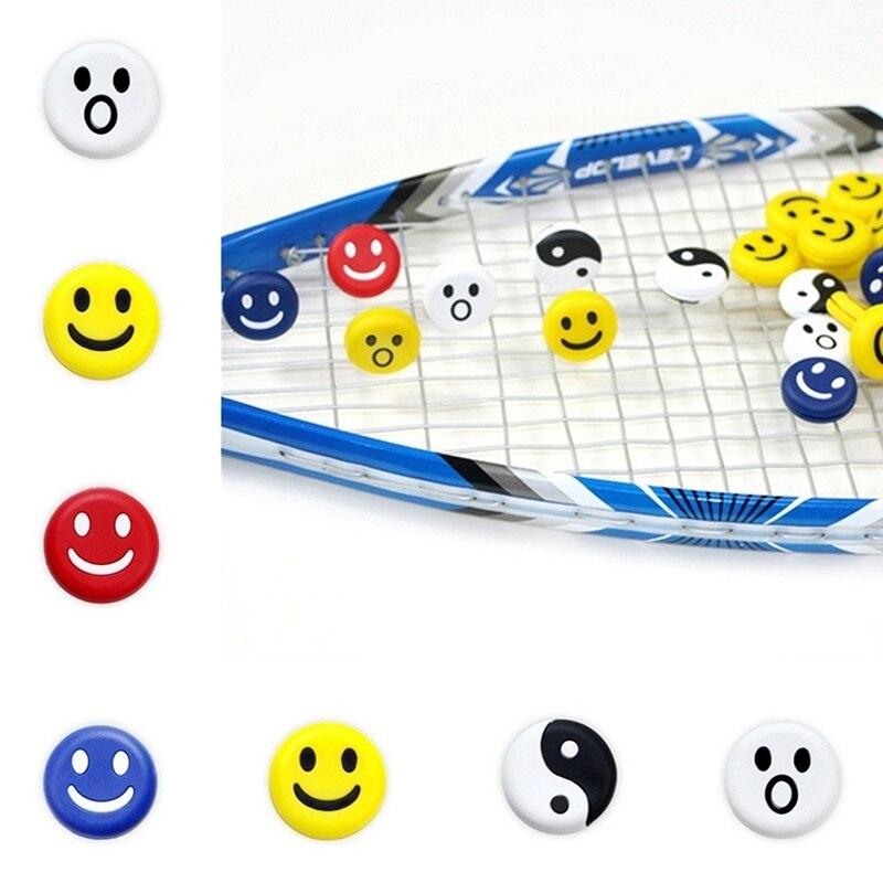 10pcs ZARSIA Smiles Faces Taiji Tennis Vibration Dampener Smile Expression Silicone Tennis Racket Dampener