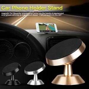 Image 2 - Voiture téléphone Mobile support magnétique 360 degrés sortie dair voiture magnétique Navigation multi fonction support de téléphone Mobile voiture style