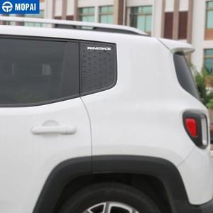 Image 4 - MOPAI نافذة السيارة الخلفية الزجاج مثلث لوحة الديكور غطاء الكسوة ل Jeep Renegade 2015 2017 اكسسوارات السيارات