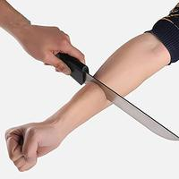 Knife Through Arm (Bloody Arm Knife) with Monster Blood Stage Magic Tricks Props Illusions Gimmick Magician Accessories