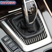 For bmw z4 e89 Carbon Fiber Interior Control Gear Shift Panel Stickers Decorative Cover Trim Strip 2009 2015 Accessories