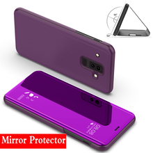Mirror Case For Samsung Galaxy note 9 Smart Flip Cover Capa Stand Clear View PU Leather Case For Samsung Note 9 Case стоимость