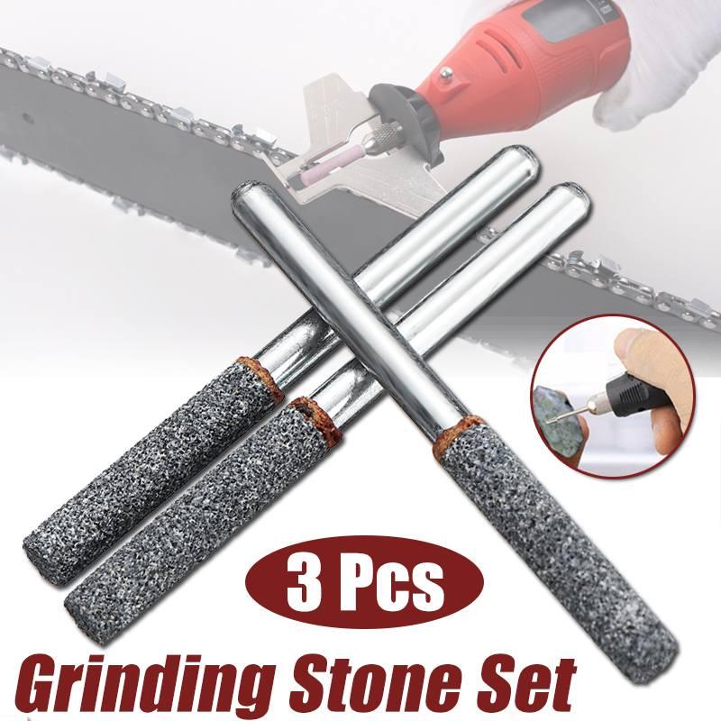 3Pcs Durable 5.5mm Diamond Cutting Grinding Head Mounted Points Bit Shank Jade Stone Carving Polishing For Dremel Rotary Tool