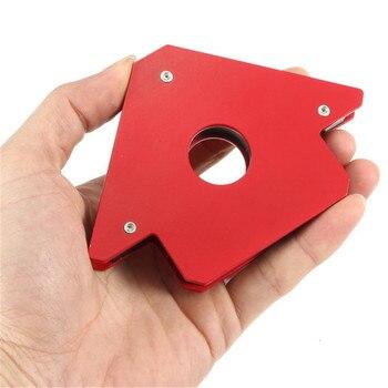 BMBY-25LB soporte de soldadura magnética con forma de flecha para múltiples ángulos, se sujeta hasta el montaje de soldadura, instalación de tuberías de soldadura