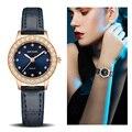 Reloj de lujo para Mujer Reloj Mujer 2018 MEGIR Twinkly mujeres pequeñas relojes de oro rosa envío gratis Damen Uhren Montres Mujer Dropship