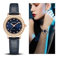 Women Luxury Watch Reloj Mujer 2018 MEGIR Twinkly Small Women Watches Rose Gold Free Shipping Damen Uhren Montres Femme Dropship