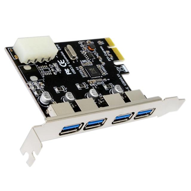 1 đặt Chuyên Nghiệp 4 Cổng PCI-E Để USB 3.0 HUB PCI Express Mở Rộng Card Adapter 5 Gbps Tốc Độ Cho Máy Tính Để Bàn