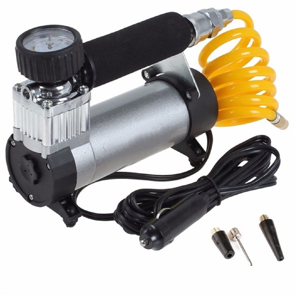 100PSI 12V Portable Car Electric Tire Air Pump Compressor Inflator Mini Air Compressor Air Inflator Pump 1set