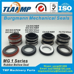 MG1-40 uszczelnienia mechaniczne Burgmann dla wału rozmiar 40mm pompy  MG1/40-G60. MB1-40   109-40 (z siedziskiem stacjonarnym G60 Cup)