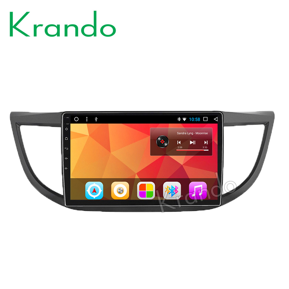 "Krando Android 8.1 10.1"" Full touch car Multmedia player audio radio gps navigation system for Honda CRV 2012-2016"