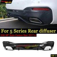 G30 Diffuser Lip MP Style Carbon fiber For BMW 520i 530i 540i 550i 550i xDriver Diffuser Lip G30 Rear Bumper Diffuser Lip 17 in