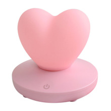 Dimmable Led Night Light Lamp Silicon Love Heart For Baby Children Kids Gift Bedside Bedroom Living Room Decoration h28cm rgb led rabbit lamp night light usb for children baby kids gift animal cartoon bedside bedroom living room decoration