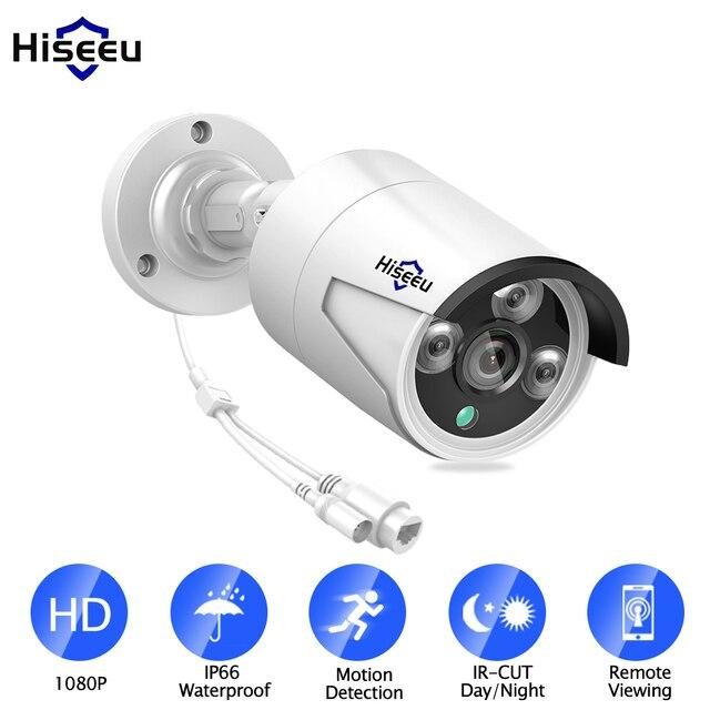 Hiseeu HB612 1080 P HD IP Outdoor Camera 2.0 MP 3.6mm draadloze Netwerk ip camera met POE IR CUT bewegingsdetectie Nachtzicht