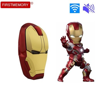 Iron Man Wireless Silent Mouse Marvel Avenger Ergonomic Optical PC Gaming Computer Mice 2400 DPI Mute Mause For Collection