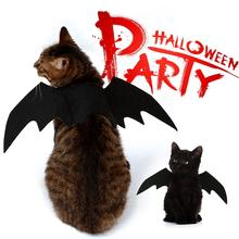 Decoração de Halloween do animal de Estimação Do Gato Do Cão Preto Asa Asas de Morcego Cute Pets Dress up Halloween Cosplay Costume Party Festival Fontes Do Cão(China)