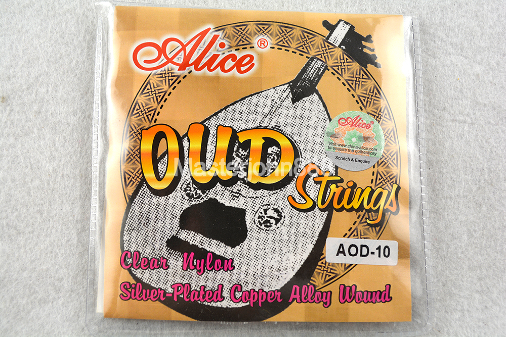 Alice AOD-11/11/12 OUD Strings Clear Nylon&Silver-Plated Copper Wound